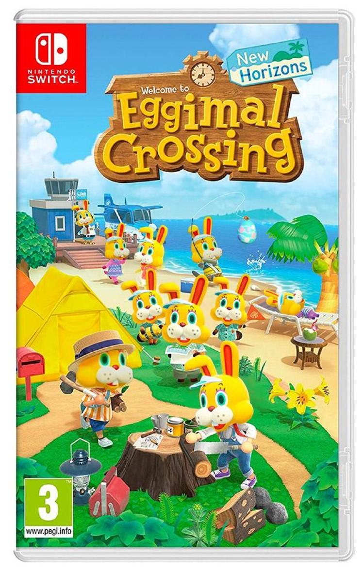 Eggimal Crossing box art joke meme