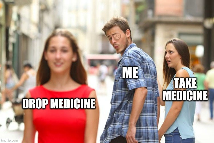 Dropping medicine meme crossover