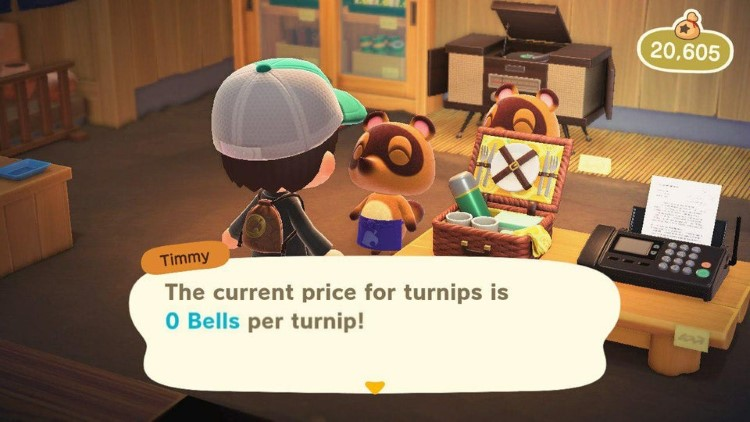 Current price of turnips