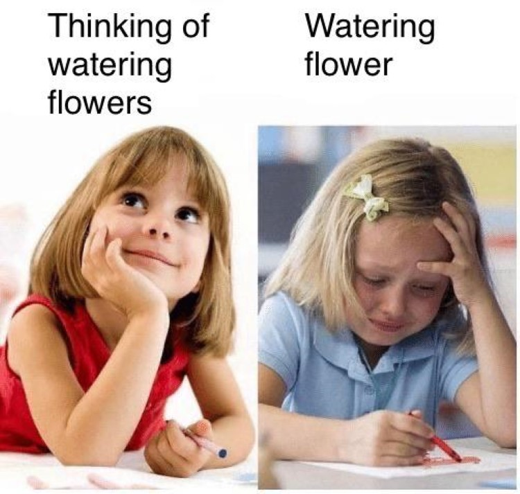 Dont want to water flowers AC meme