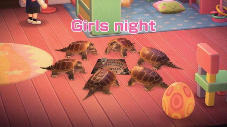Turtles ouija board meme AC