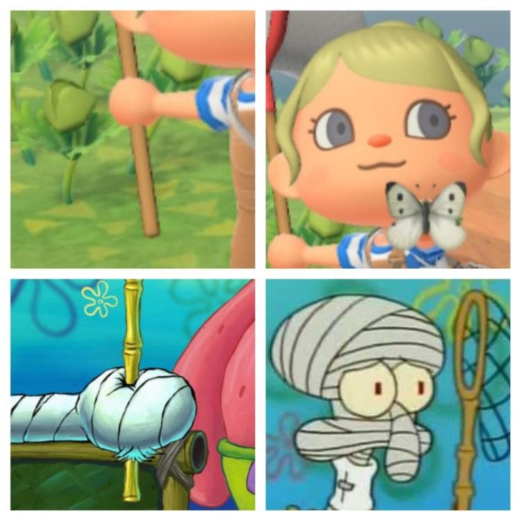 Firmly grasp it net Animal Crossing meme