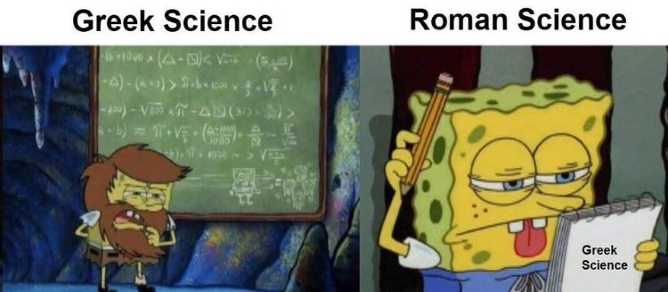 Greek Science SpongeBob