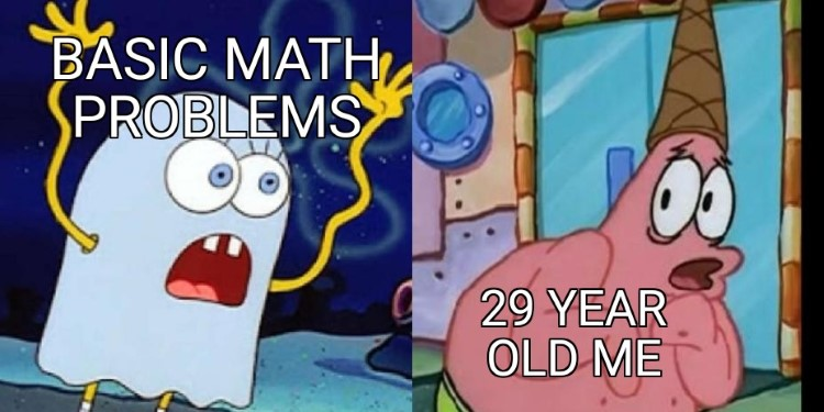 Cant solve basic math problems SpongeBob