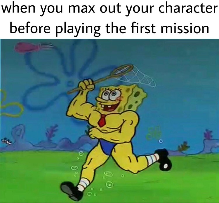 Max level video game SpongeBob