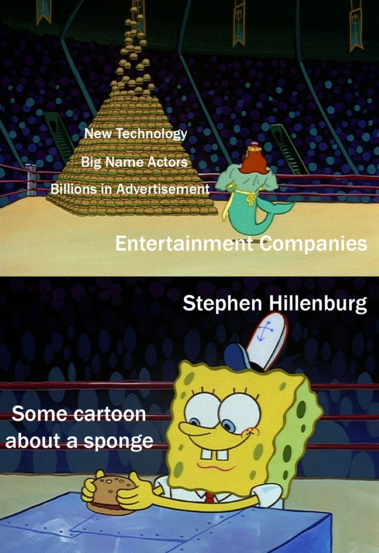 Cartoon about a sponge meme