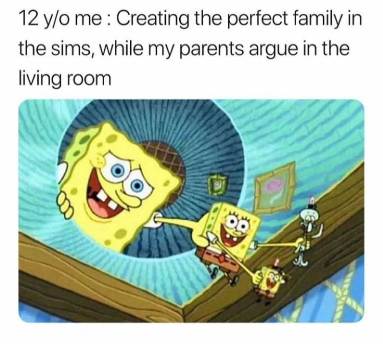 SpongeBob creating perfect family