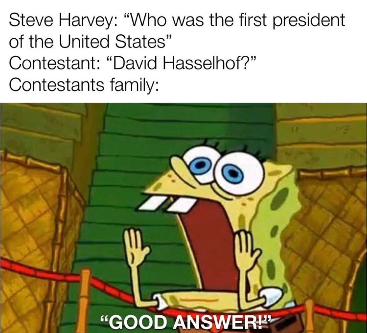 Family Feud good answer SpongeBob meme