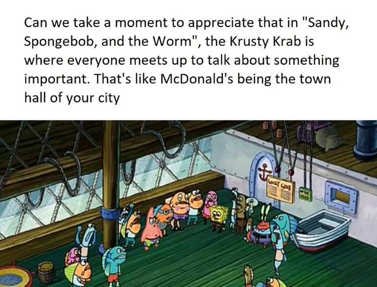 Krusty Krab is city hall meme