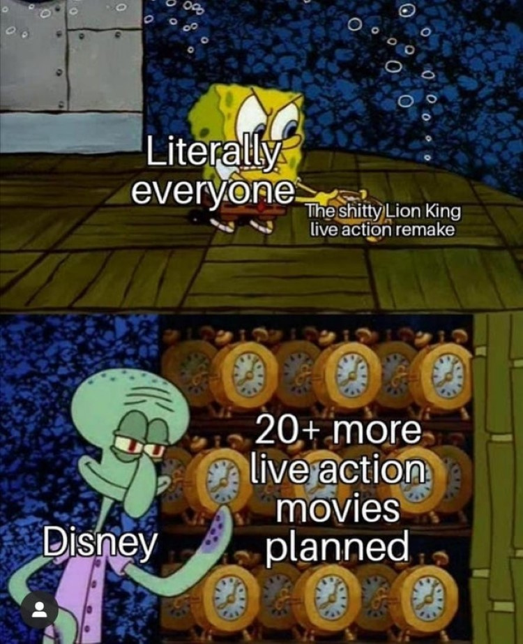 SpongeBob disney clocks meme