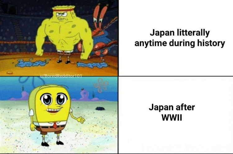 Japan after WW2 meme