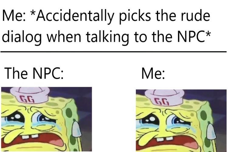 NPCs and me meme