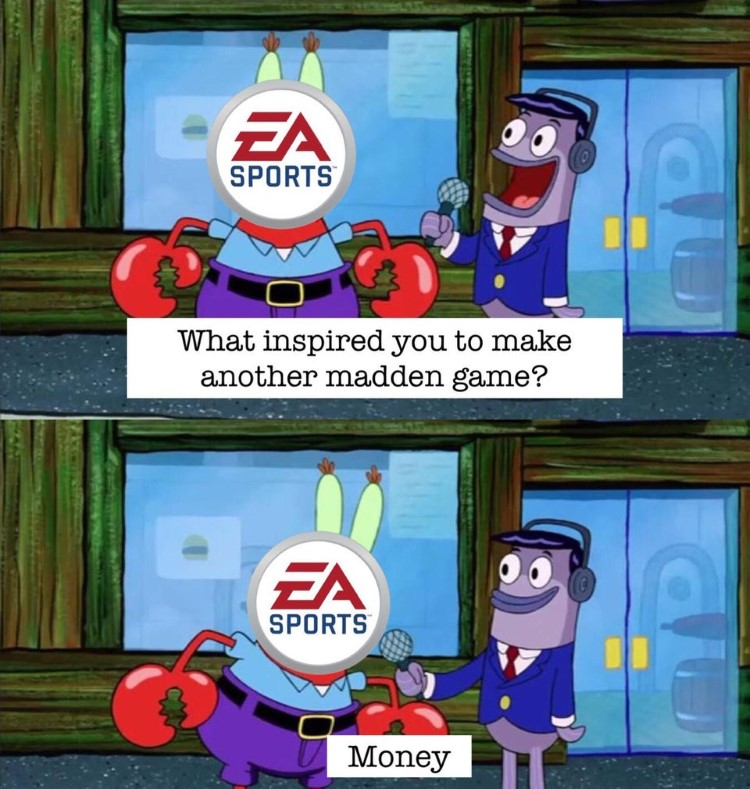 EA Sports I made Mr Krabs money meme