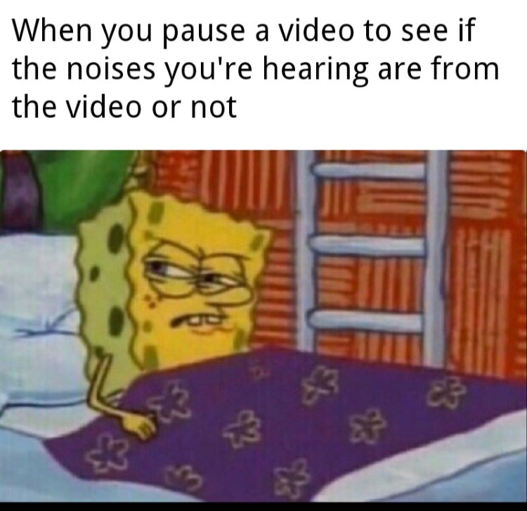 Pause a video to hear noises meme