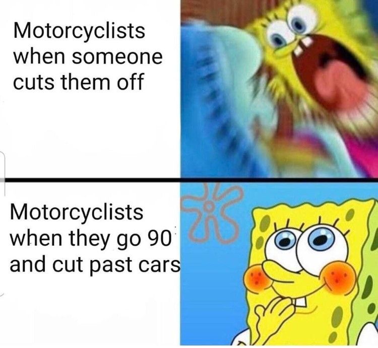 Motorcyclists driving meme