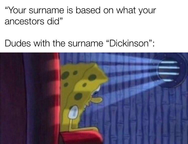 SpongeBob surname meme