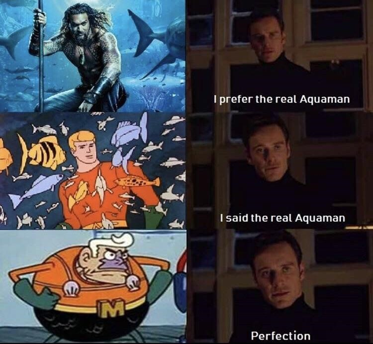 Mermaid man is Aquaman meme
