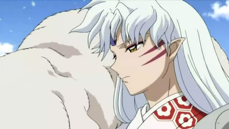 Sesshōmaru in InuYasha anime screenshot