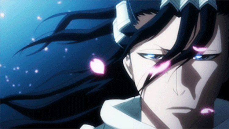 Byakuya Kuchiki in Bleach anime screenshot