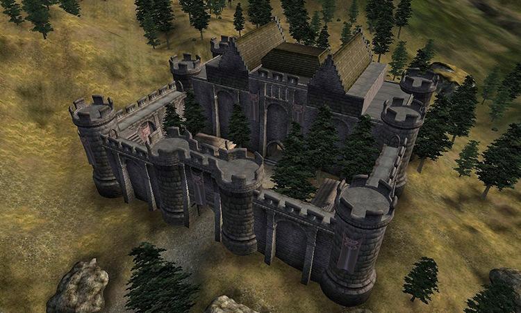 Battlehorn Castle in TES IV Oblivion game