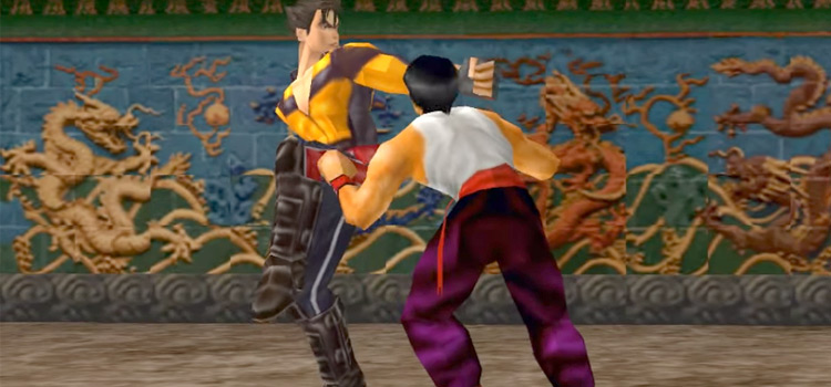 Tekken 3 screenshot battle sequence