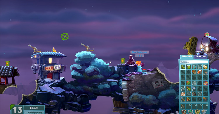 Worms game screenshot