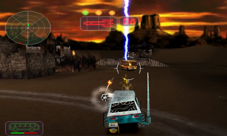 Vigilante 8 game screenshot