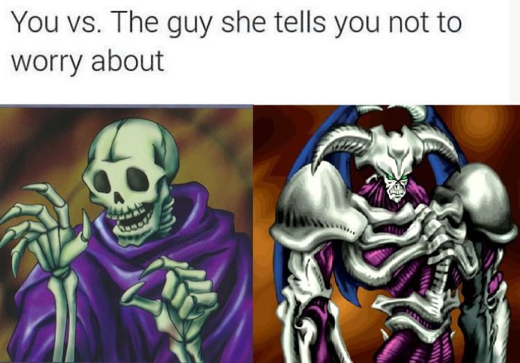 Skull servant meme