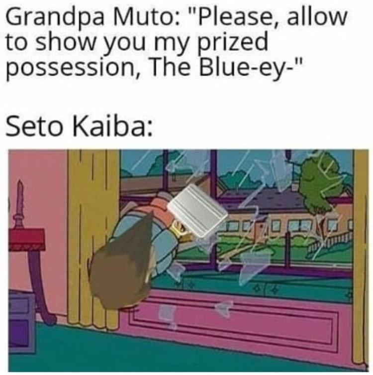Seto blue eyes card meme