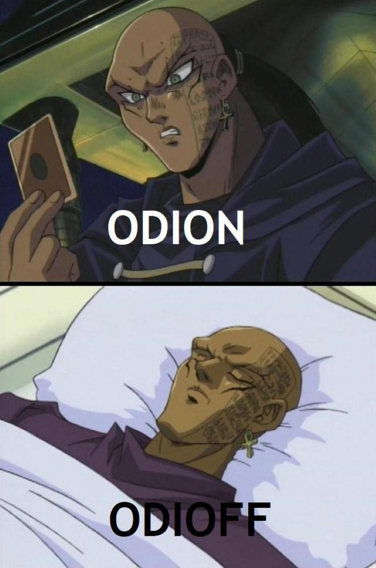 Odion vs Odioff meme