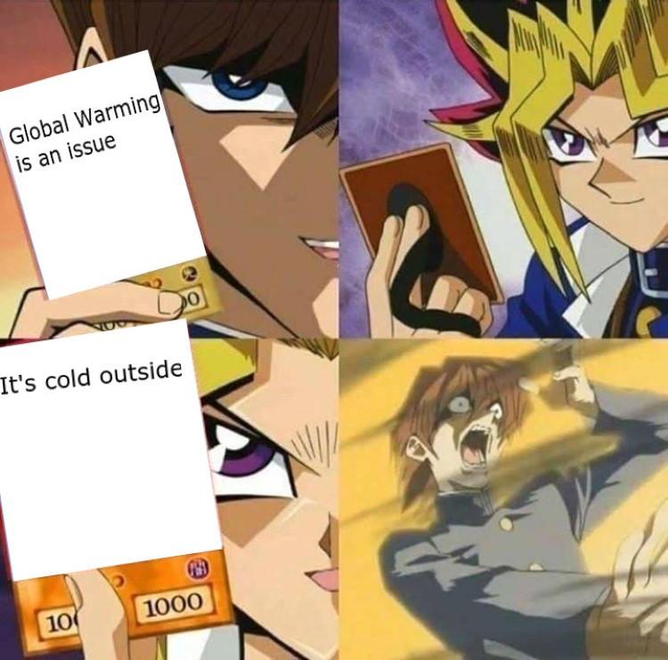 Global warming YuGiOh meme