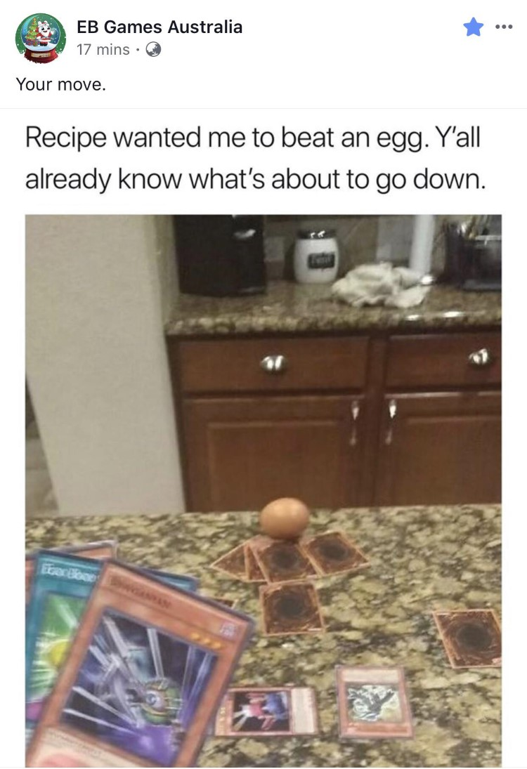 Defeat an egg in YuGiOh