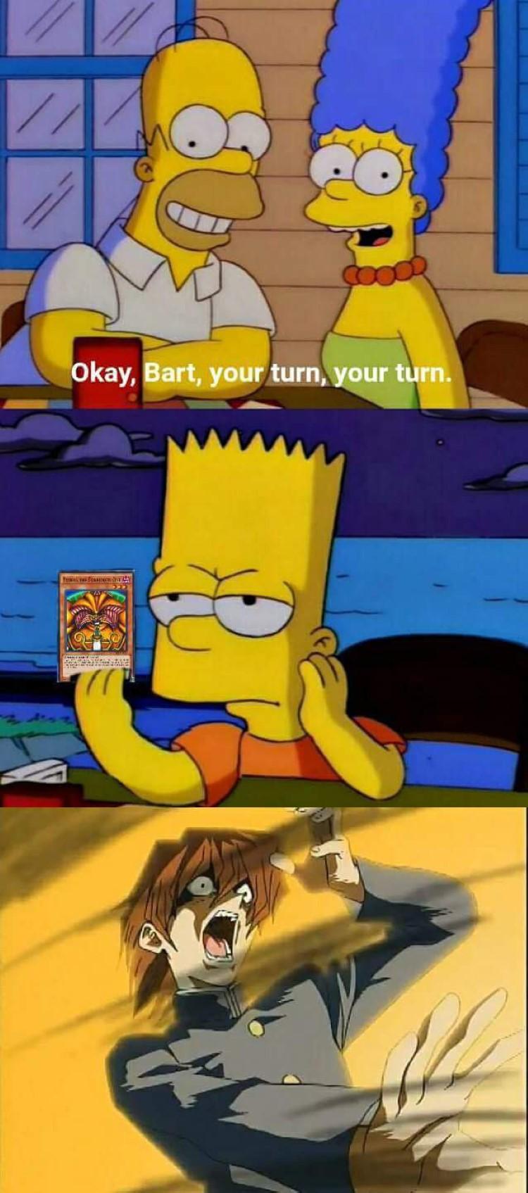 Bart Simpsons Exodia crossover