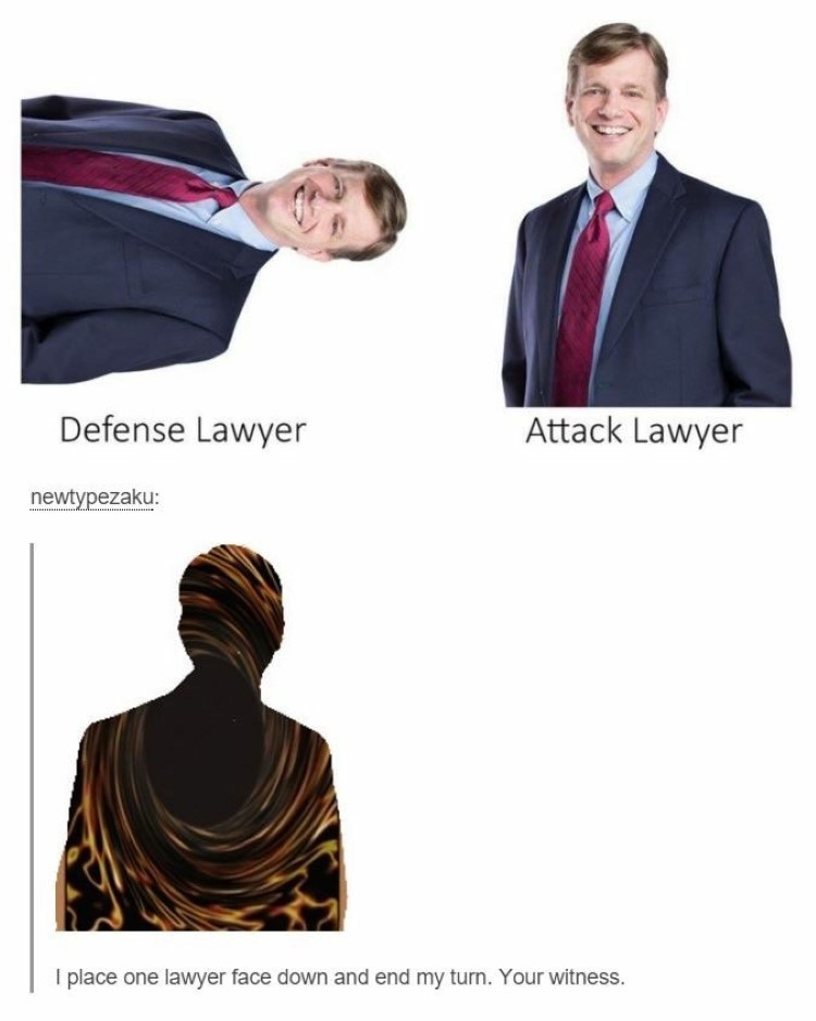Defense attack lawyer meme