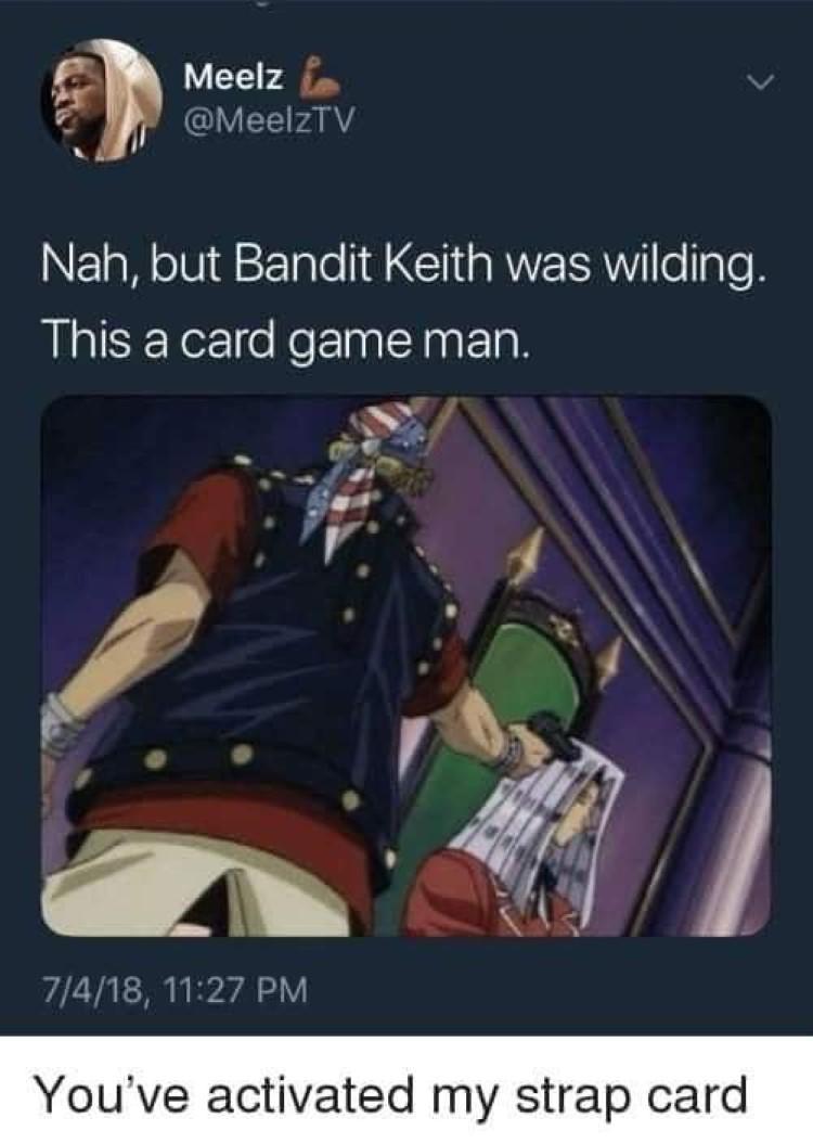 Bandit Keith card game man
