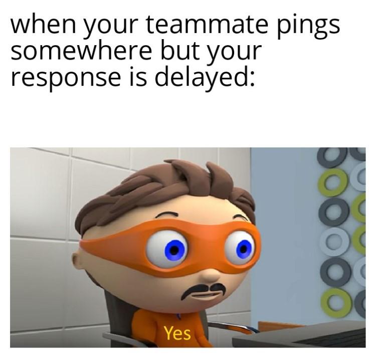 Teamming delayed response ping