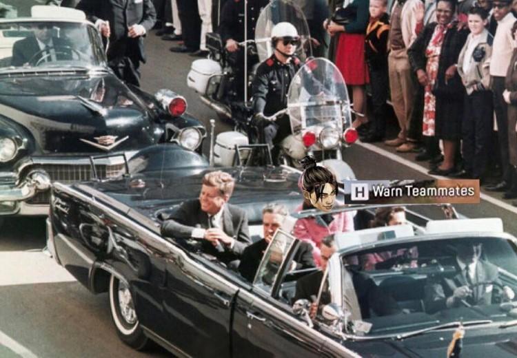 JFK warn teammates meme