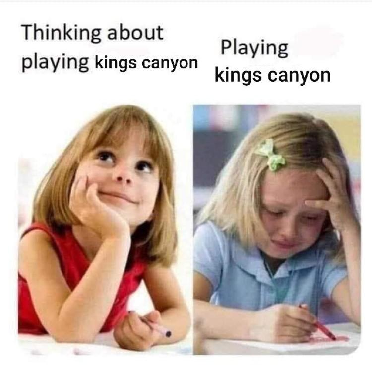 Playing kings canyon not fun meme