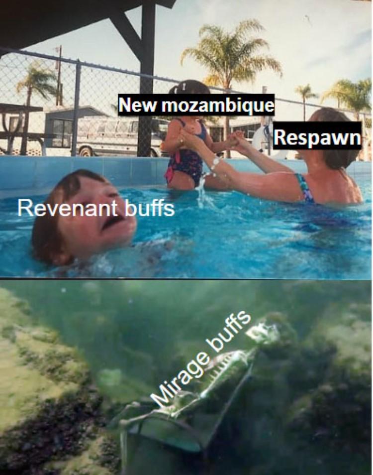 Mirage buffs nowhere meme