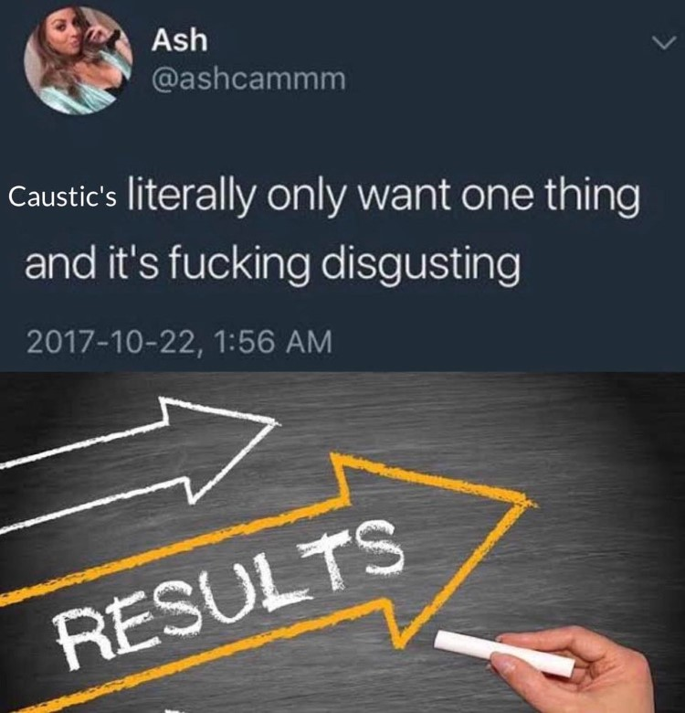 Caustics want results meme