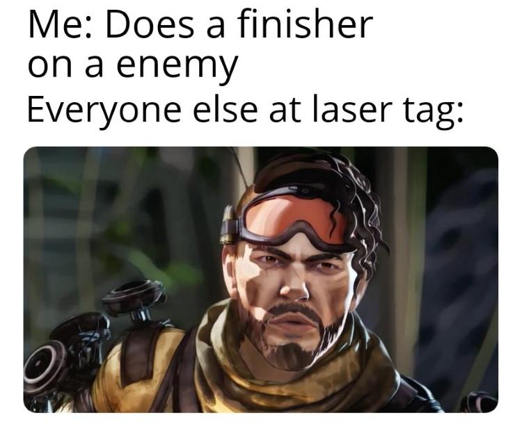 Everyone at laser tag
