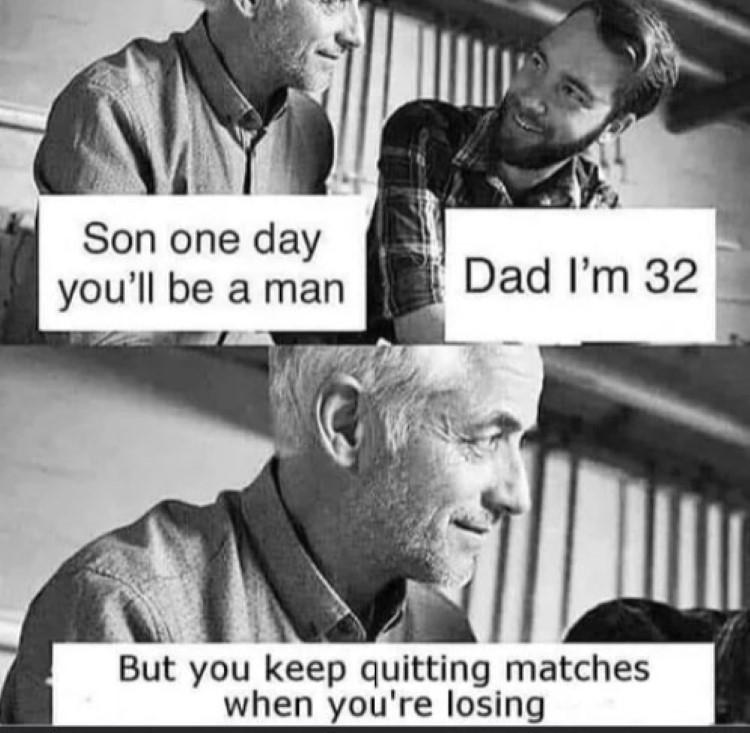 Stop losing matches meme