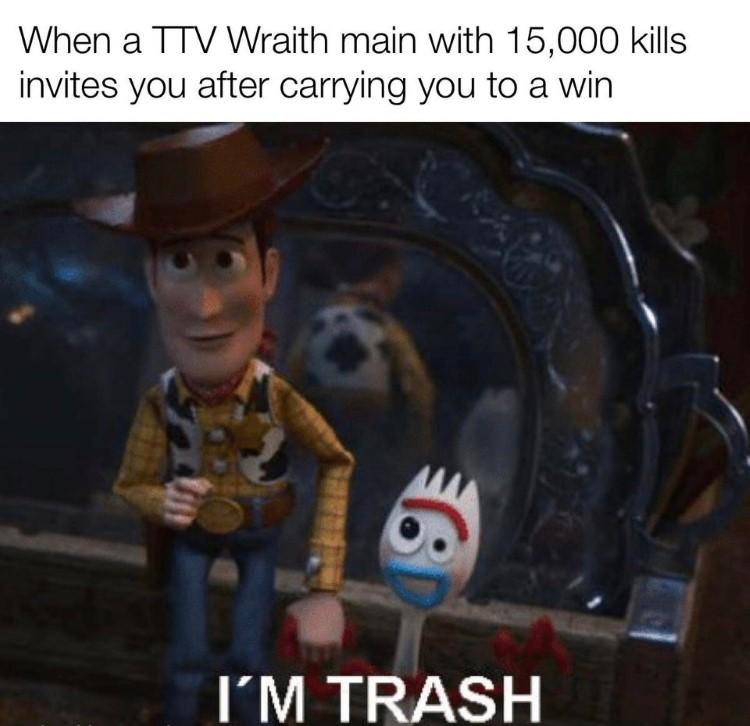 Woody Im trash meme