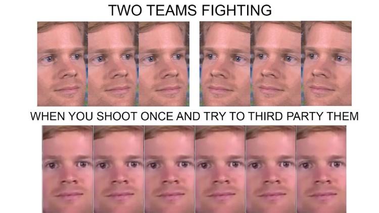 Two teams fighting Apex meme