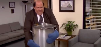 Kevin about to spill the chili