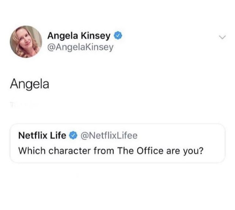 Angela which character are you meme