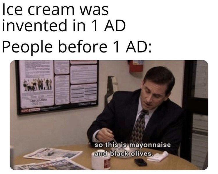 Ice cream invented meme