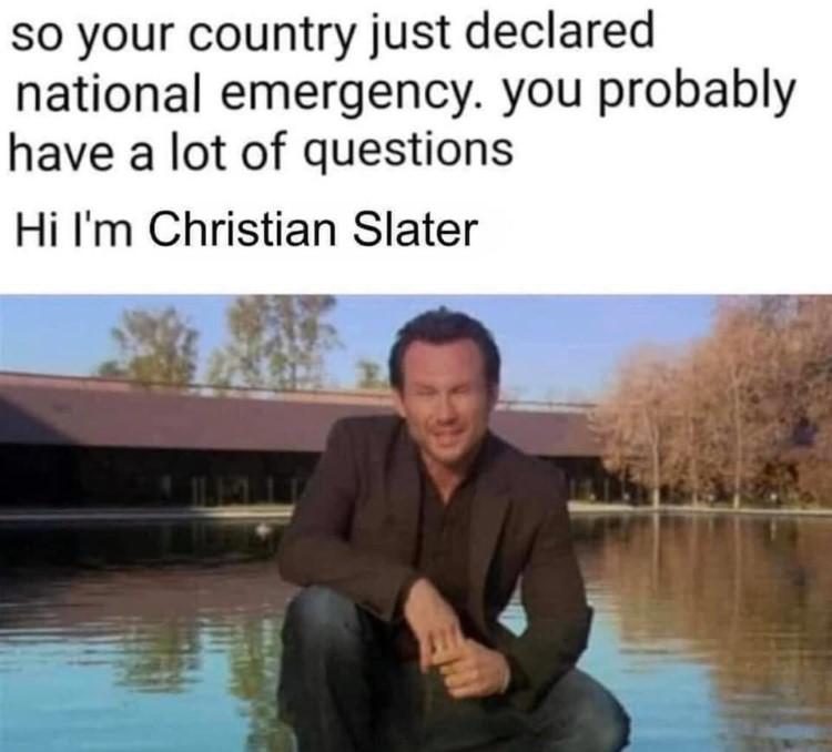 Office hi Im Christian Slater
