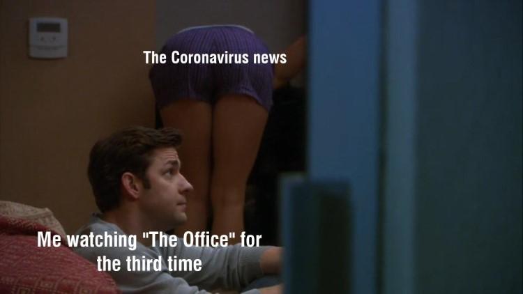 Jim ignoring corona news