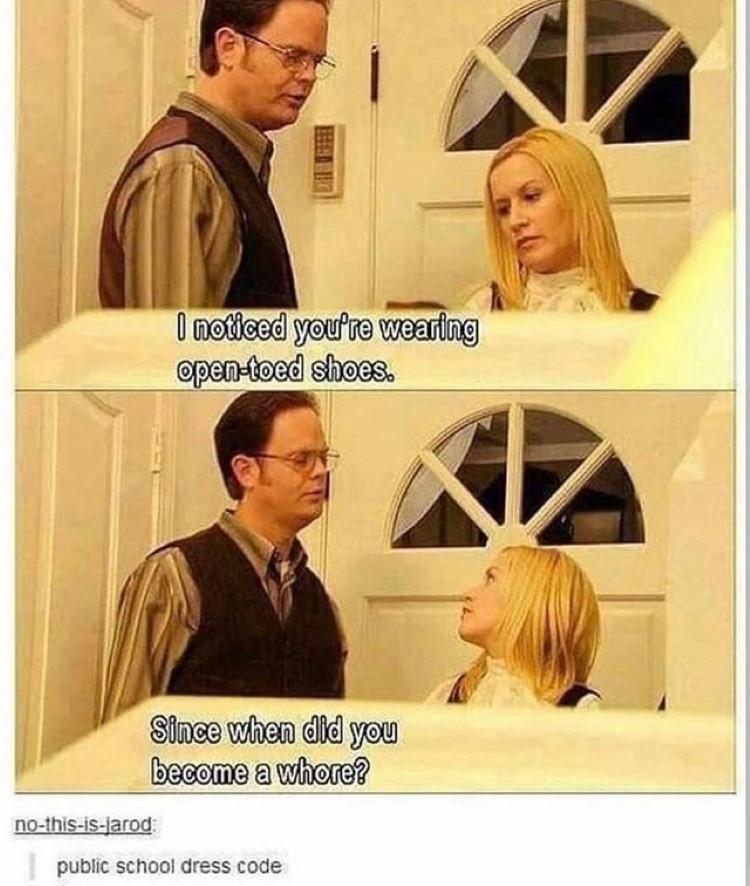 Public dress code joke The Office